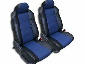 Nissan 350z 2003 2006 Black Blue Iggee S Leather Custom Made Fit Seat Covers
