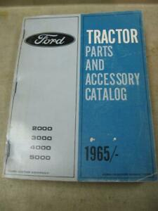Ford 2000 3000 4000 5000 1965 Tractor Parts And Accessories Catalog Manual