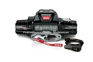 Warn Zeon 12 s Premium Winch Synthetic Rope Hawse Aluminum Fairlead 12000 Lb