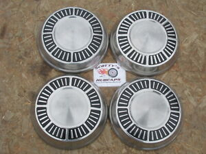 1965 1966 Plymouth Fury Sport Fury poverty Dog Dish Hubcaps Set Of 4 black