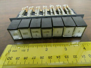 7 position Interlock Push Button Switch Piano Type Dpdt Vintage