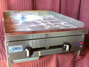 New 24 Griddle Flat Top Gas Plancha Grill Nsf Stratus Smg 24 Lp Propane 7152