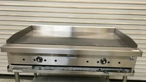 New 36 Thermostatic Gas Griddle Flat Top Plancha Grill Nsf Stratus Stg 36 5827