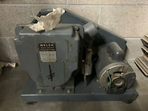 Welch Duo Seal Two Stage High Vacuum Pump Model 1397 Untested