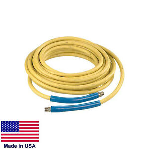 Pressure Washer Hose Assembly 3 8 4000 Psi Rated 50 Ft Quick Couplers