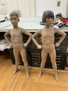 2 Full Body Realistic Childrens Mannequins