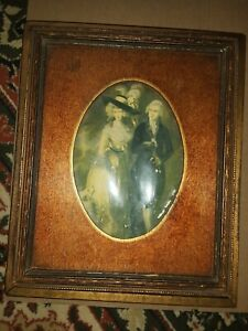 Antique Victorian Jewelry Box W Mirror