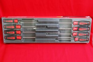 Snap On Long Screwdriver Set 8 Piece Red Instinct Handle Set Sgdxl80b