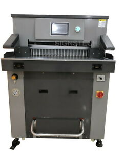 670mm Hydraulic Paper Guillotine Cutter Programmable Stack Cutting Machine 26 3