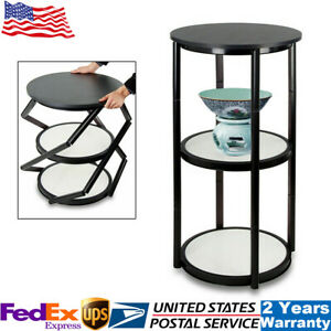 41 7 Portable Round Aluminum Spiral Counter Display Case W Shelves