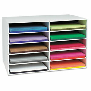 Paper Storage Organizer Rack 12 X 18 10 Shelves Recyclable Indoor Office