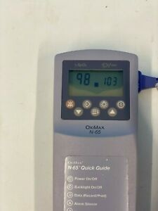 Nellcor N 65 Oximax Hand held Oximeter Monitor Finger Pulse Included As Picture