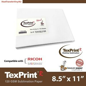 Texprint R Sublimation Paper 8 5 X 11 55 Sheets lowest Price Guaranteed