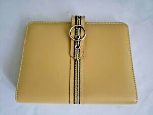Franklin Covey Compact Mustard Gold Faux Leather Planner binder