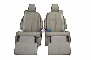 2011 2012 2013 2014 Toyota Sienna Recliner Seats Tan Leather 2nd Row