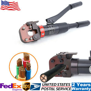 6t Hydraulic Cable Cutter Wire Rope Scissor Metal Wire Cutting Tool 360 Rotate