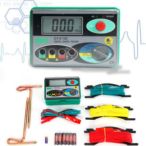 Dy4100 Earth Ground Resistance Meter Voltage 0 30v Lcd Measuring Meter New