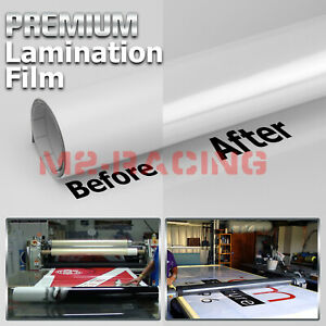 36 x60 Cold Laminating Film Glossy Clear Monomeric Lamination Poster Sign Decal