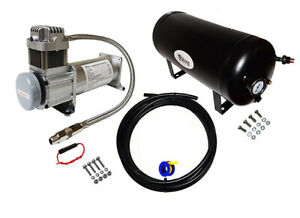 Viking Horns On Board Air System 5 Gal Tank 200 Psi Compressor For Train Horn