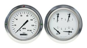 1954 1955 Chevy Gmc 3100 Truck Gauge Pkg Classic Instruments Ct54wh52 White Hot