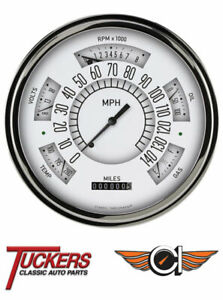 1949 50 Ford 49 Car Shoebox White Series Gauge Cluster Classic Instruments Fc49w
