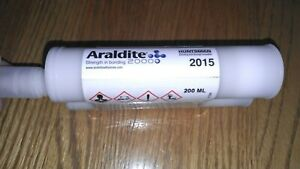New Araldite 2015 Epoxy Gel Adhesive 200ml W Mixing Syringe exp 11 2021