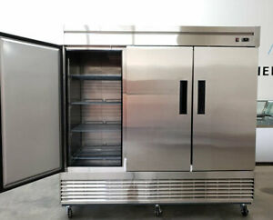 Commercial 3 Solid Door Refrigerator Merchandiser Upright Reach in Cooler New