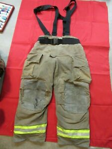 Mfg 2013 Globe Gxtreme 38 X 30 Firefighter Turnout Bunker Pants Suspenders