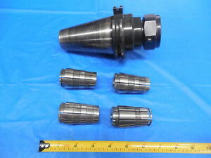 Erickson Tool Cat 50 Tg 100 Collet Chuck Tool Holder Cv50tg100350 With 4 Collets