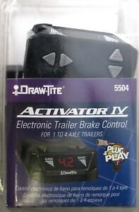 Draw tite 5504 Activator Iv Electronic Trailer Brake Control 1 4 Axle Trailers