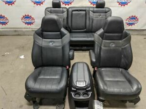 05 06 07 Ford F250 Superduty Harley Davidson Front And Rear Leather Seats Bench