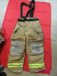 Mfg 2013 Globe Gxtreme 40 X 30 Firefighter Turnout Bunker Pants Suspenders