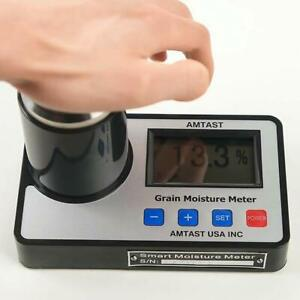 Smart Moisture Meter Portable Tester For Any Kinds Of Beans Grains Lcd Display