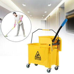 Samger 5 Gallon Mini Mop Bucket W wringer Combo Commercial Rolling Cleaning Cart
