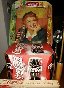 Coca-Cola Collectables-Hobbleskirt 6-Pack  Tray 1950  Ice Pick  Ice Cream Scoop