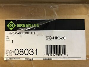 Greenlee Hk520 Hydraulic Cable Cutter Brand New