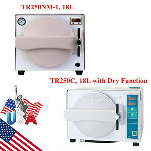 18 L Dental Autoclave Steam Sterilizer Medical Sterilization W dry Function Ups