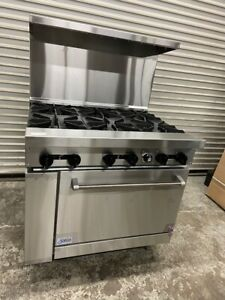 New 36 Lp Propane Range 6 Open Burner Oven Base Stove Stratus Sr 6 lp 7267
