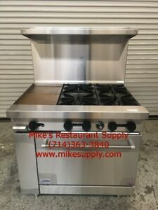 New 36 Lp Propane Range 4 Burner 12 Griddle Oven Base Stratus Sr 4g12 Lp 7268