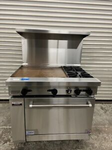 New 36 Combination Range 2 Burner 24 Griddle Oven Base Stratus Sr 2g24lp 7269