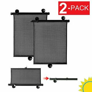 2 Pack Retractable Car Auto Side Window Baby Sun Shade Shield Cover Rollvisor