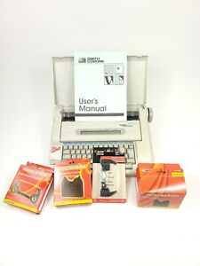 Smith Corona The Office 2000 Memory Typewriter Model Na5hh With Ink And Manual