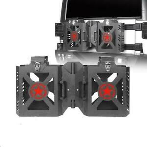 Double Jerry Gas Can Holder Tailgate Mount Rack For Jeep Wrangler Jk 2007 2018