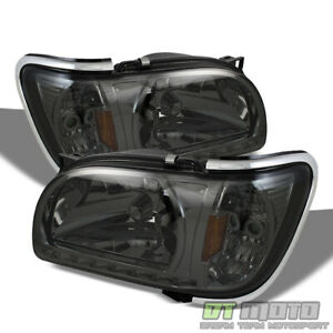 For Smoke 2001 2004 Toyota Tacoma Led Headlights W Built In Corner Signal Lights