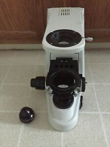 Nikon 50i Eclipse Microscope Base Stand For Project Or Parts Working Lamp focus