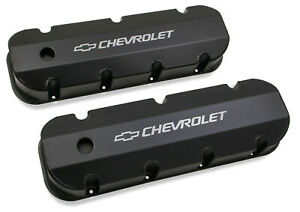 Holley 241 281 Chevy Bowtie Fabribcated Valve Covers Big Block Chevy V8 S
