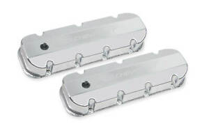 Holley 241 280 Chevy Bowtie Fabribcated Valve Covers Big Block Chevy V8 s