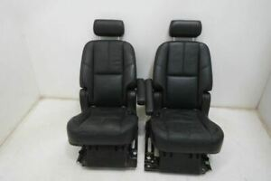 07 14 Chevy Silverado Gmc Sierra Tahoe 2nd Rowe Center Seats Leather Black