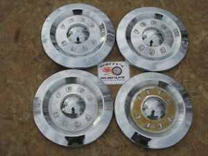 1957 1958 1959 Ford Ranchero Ranch Wagon poverty Dog Dish Hubcaps Set Of 4