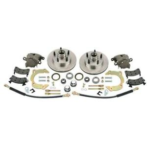 Front Disc Brake Kit Gm Metric Mustang Ii To 1949 54 Chevy 5 On 4 1 2